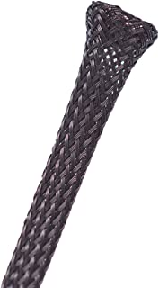 """Wang-Data PET Black Cable Sleeve 1/4 inch X 100ft (1/4"""" X 100')"""