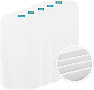 """Biloban Changing Pad Liners (5 Pack) Soft Large 26""""x15"""" Waterproof, Washable Reusable Change Table Cover Liners Double Lay..."""