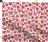 Erdbeeren, Erdbeere, Wasserfarben, Obst, Sommer Stoffe -