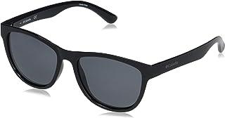 Columbia Mountain Side Rectangular Sunglasses, Black/Smoke Polarized, 63 mm
