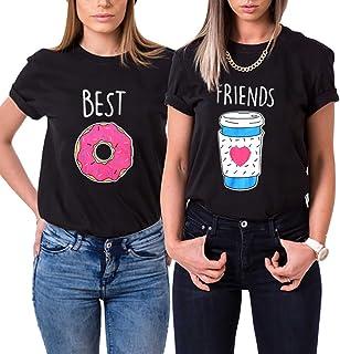 Beste Freunde T-Shirt 1 Stück Kaffee Donut Best Friends Shi