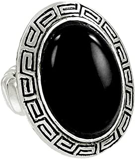 Falari Oval Shaped Natural Stone One Size Stretch Ring