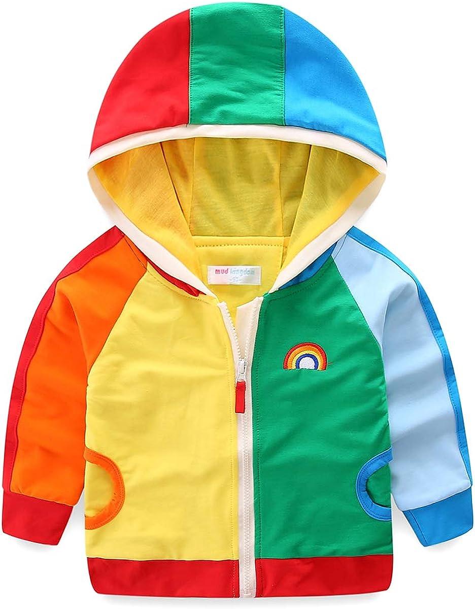 Spring new work ZL4CH Spring Boys Fashion Patchwork Jacke Rainbow High order Hoodies Zipper