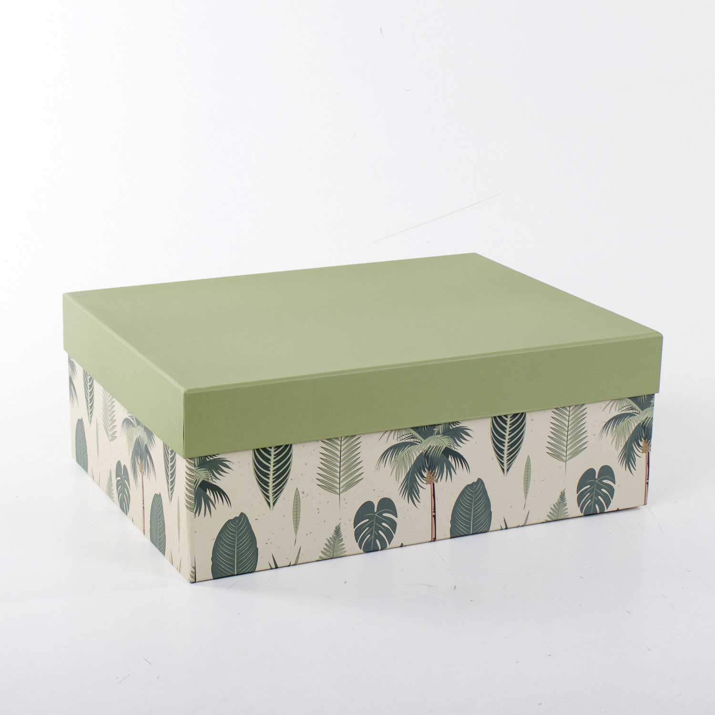 Euro Flora caja de regalo (hoja patrón) 40x30x15 Cm: Amazon.es ...