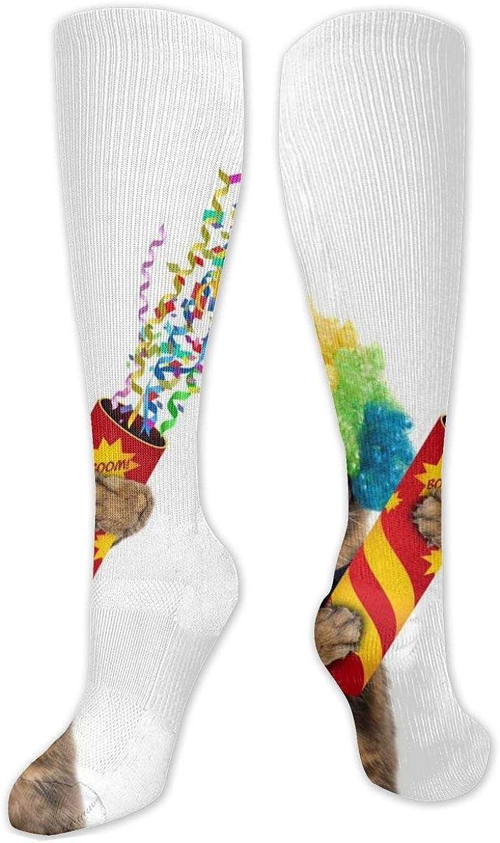 Cat Clown Knee High Socks Leg Warmer Dresses Long Boot Stockings For Womens Cosplay Daily Wear