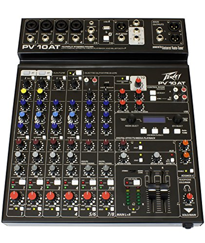 Peavey PV 10 AT 10 Channel Compact Mixer with Bluetooth and Antares Auto-Tune