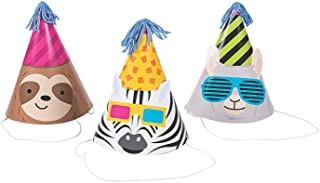 Party Animal Cone Party Hats - 12 pc