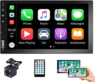 EKAT Double Din Car Stereo Touch Screen with Carplay Bluetooth, in-Dash Car Audio Receiver Support Mirror Link for Android... photo