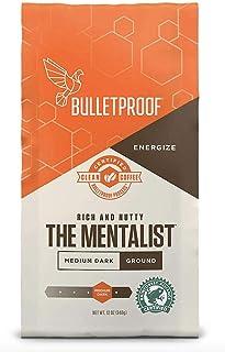 Bulletproof The Mentalist Ground Coffee, Medium Dark Roast, Keto Friendly, Certified Clean Coffee, Rainforest Alliance, Ground, 12 Ounces