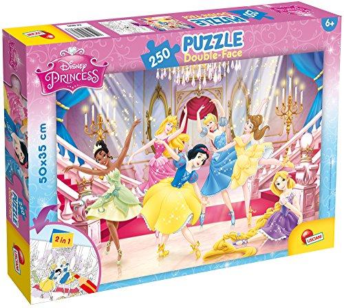 Liscianigiochi 48083 Disney: Princess Puzzle Double face 250, Mehrfarbig