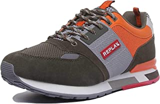 Replay Hunter Mens Lace Up Casual Trainer In Khaki