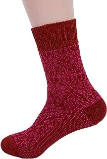 100% de lana pura bicicleta star peso medio diseño de patrón de tela de tobilleras con peso calcetines