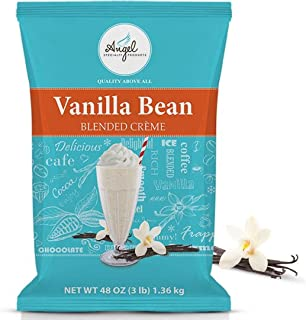 Angel Specialty Products, Blended Smoothie, Frappe Powder Mix, Vanilla Bean [3 LB] [34 Servings]