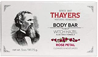 THAYERS Body Bar Soap With Witch Hazel & Aloe Vera Petal, Rose 5 Ounce