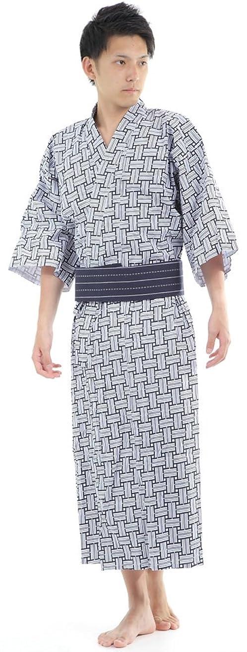 オーバーフロー起きる学習[K sera sera] 旅館浴衣 メンズ 3点セット 寝巻き 介護 パジャマ