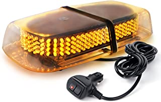 Xprite 240 LED Amber/Yellow Emergency Warning Caution Strobe Light Roof Top LED Mini Bar for Cars Trucks Vehicles Snow Plow