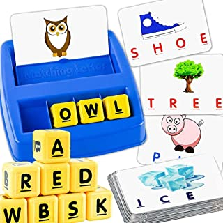 Alphabet Letter Word Match and Spell Board Games for Kids Toddle Preschoolers Learning Great Educational Toy Set