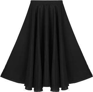 36e7b2b57c Agoky Kids Girls Vintage Summer Daily Full Circle Long Skirt Liturgical  Praise Spirit Dance Wear