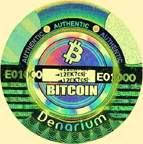 CYPTOCURRENCY Wallet!! Empty 1/10 BTC Gold Plated Physical DENARIUM BITCOIN Ready 4YOU2 Load!! Cold Storage
