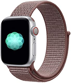 Nylon Sport Band for Apple Watch 40mm 38mm, Soft Replacement Strap for iWatch Series 4/3/2/1 (Smokey Mauve)