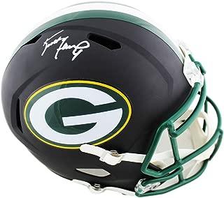 brett favre autographed full size helmet