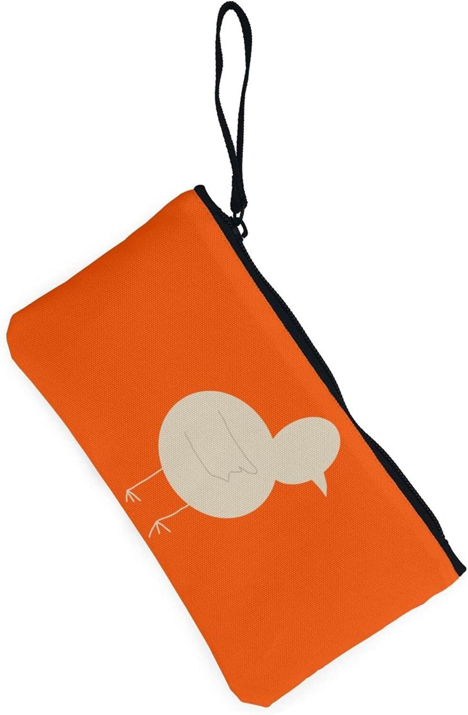 AORRUAM Cute bird Canvas Coin Purse,Canvas Zipper Pencil Cases,Canvas Change Purse Pouch Mini Wallet Coin Bag