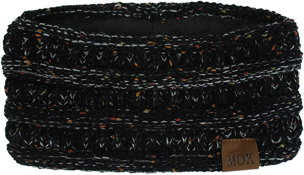 WoCoo Women Winter Keep Ear Warmer Knitting Headbands Handmade Sport Hairband Soft Stretchy Head Wrap Hair Accessories