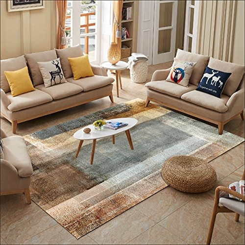 Mode Simple Motifs Géométriques Art Doux Rectangulaire Tapis Salon Table Basse Chambre Chevet Antidérapant Rectangulaire Secteur Tapis