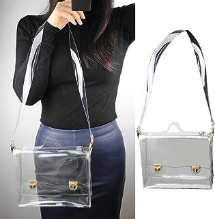wisedwell Strandtasche PVC Transparente Umhängetasche Damen wasserdichte Klein Beutel Diagonale Umhängetasche Handtasche