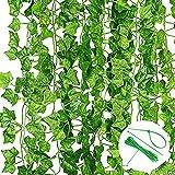 Noa Home Deco Plantas Hiedra Artificial Enredaderas Artificiales,12 Piezas, Colgantes...