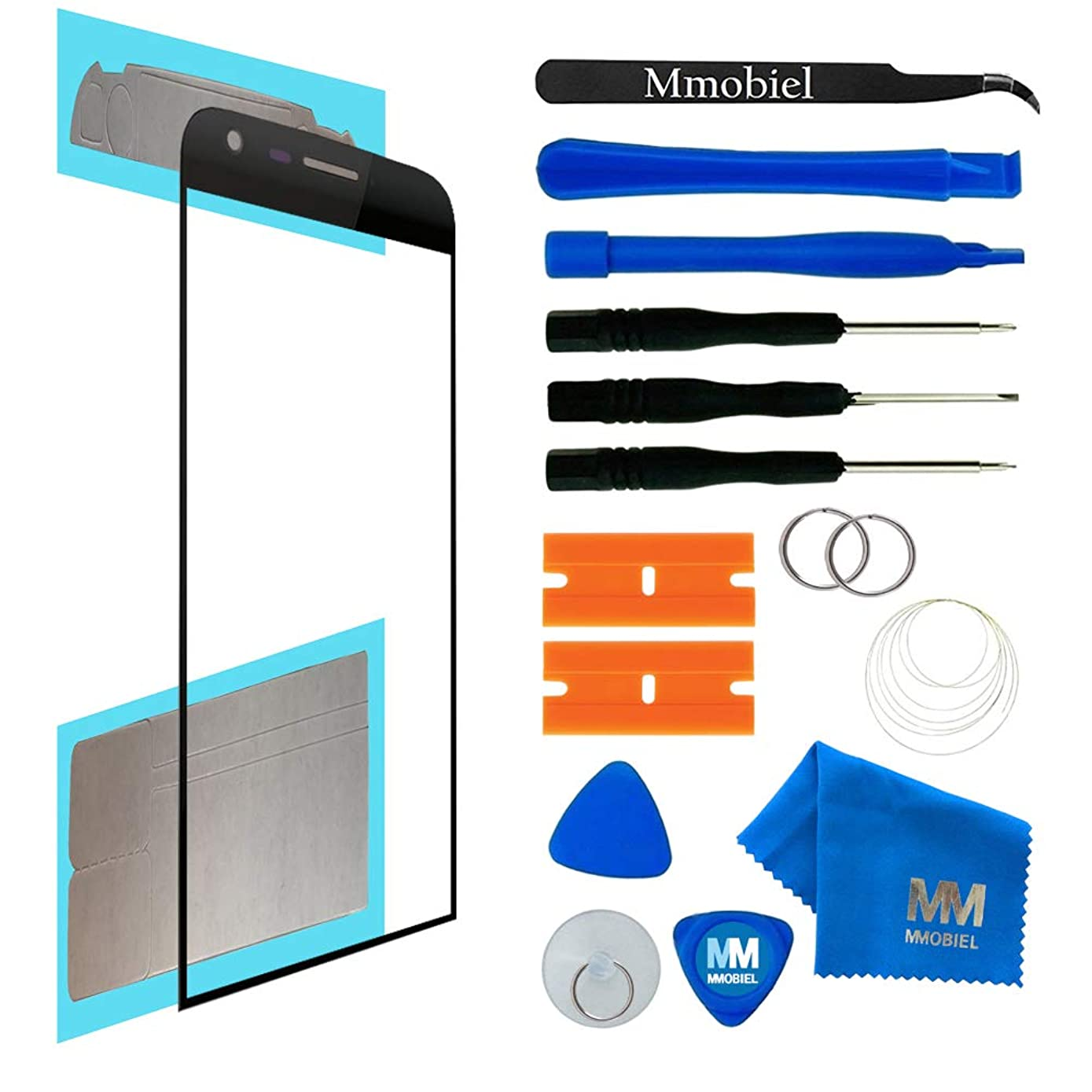 MMOBIEL Front Glass Replacement Compatible with LG G5 (Black) Display Touchscreen incl Tool Kit