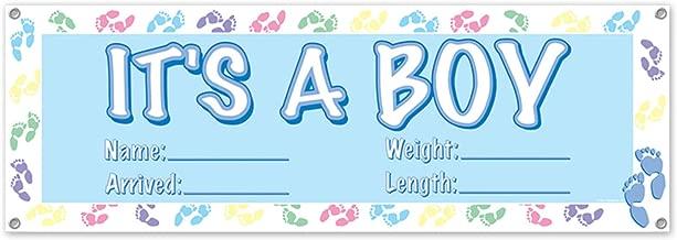 Beistle 50178 It's A Boy Sign Banner, 5' x 21