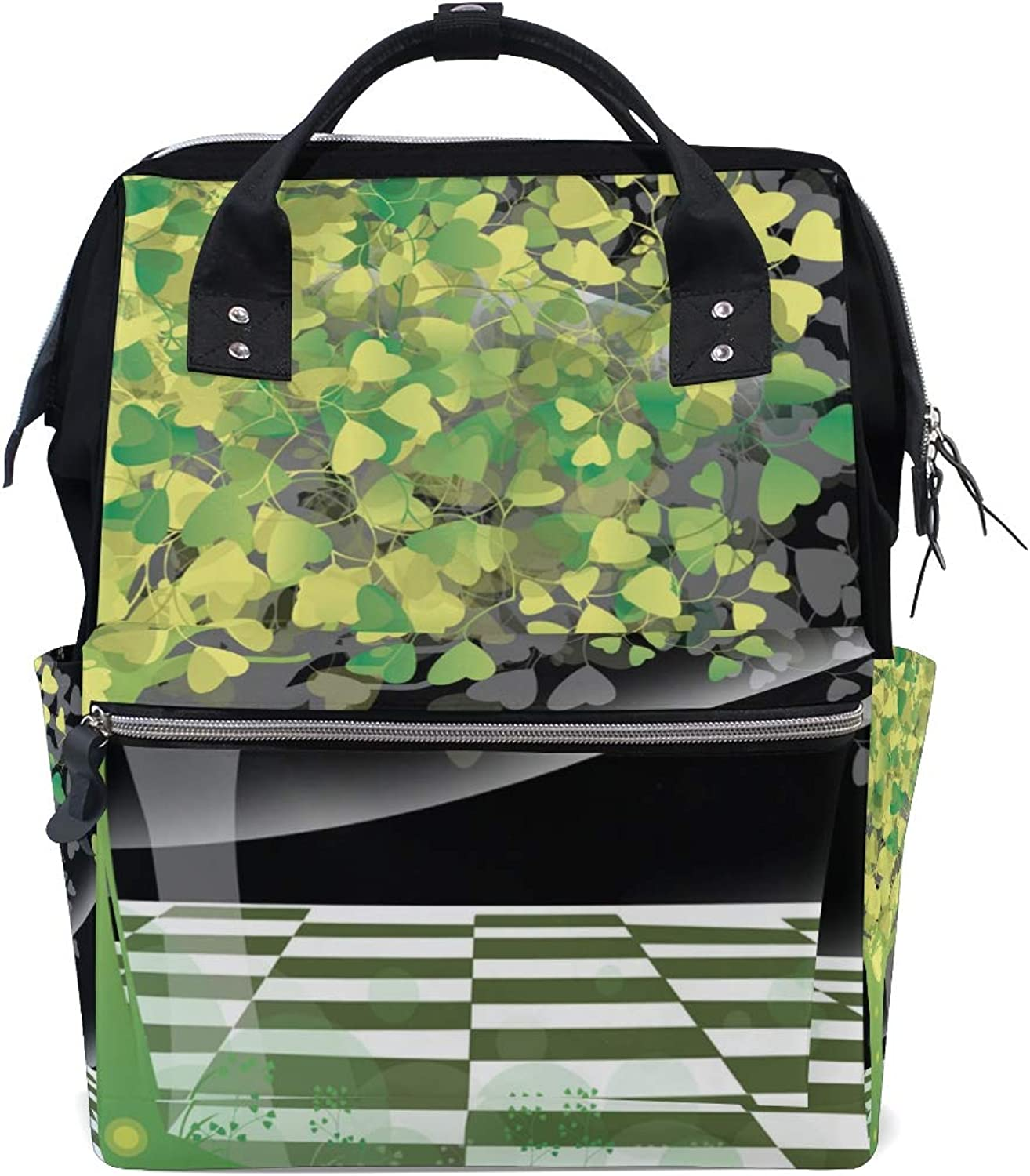 DEZIRO Canvas Abstract Tree Heart Leaves School Pack Backpacks Travel Bag