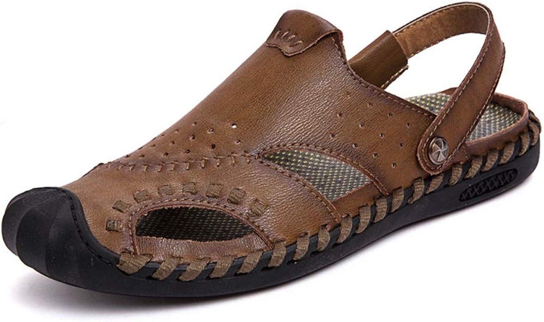 EGS-schuhe Strand Reisen Gre Outdoor Casual Lederschuhe Herren Sandalen,Grille Schuhe (Farbe   Khaki, Größe   43)