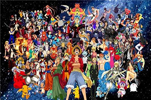 NXMRN Personalisierbarer Dragon Ball Z Poster, Pokemon, Wandsticker, One Piece Sticker Anime Sailor Moon Hintergrund Luffy Weihnachtsdekoration # 1657,400 x 280 cm