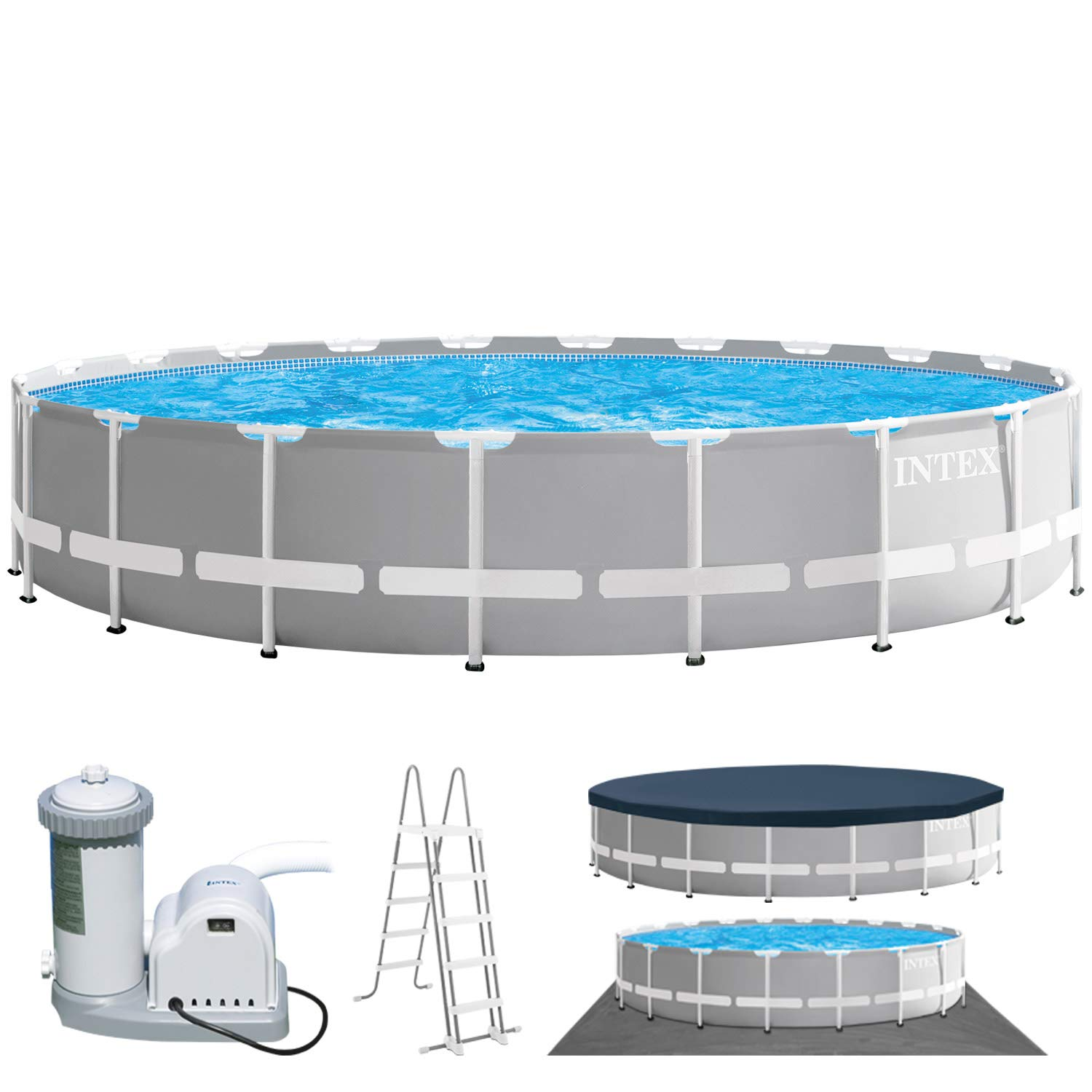 Intex Swimming Diámetro 610 x 132 cm Pool Frame Pool Set Prism ...
