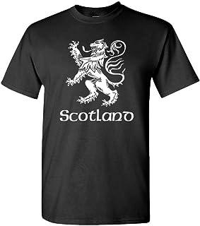 The Goozler Scotland Lion Rampant - UK Scottish Flag - Mens Cotton T-Shirt, XL, Black
