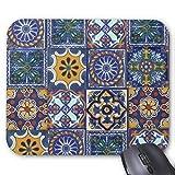 Mexican Talavera Tiles Mouse Pad 18×22 cm