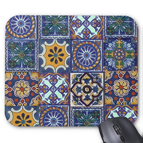 "Drempad Gaming Mauspads Custom, Mexican Talavera Tiles Mouse Pad 11.8""*9.8\"""