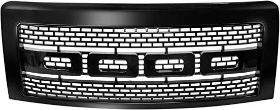 Grille Compatible With 2009-2014 Ford F150 | Raptor Style Front Bumper Grille Hood Mesh With Shell - Blackby IKON MOTORSPORTS | 2010 2011 2012 2013