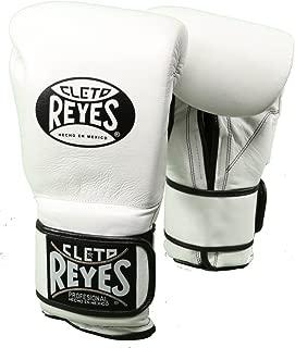 Cleto Reyes Hook & Loop Training Gloves - Regular Padding - White 12-Ounce