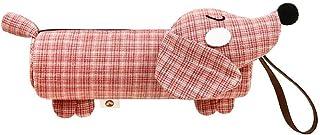CyFe - Astuccio per penne e cancelleria, motivo: bassotto, colore: grigio, 19,5 x 5,5 cm 19.5 * 5.5cm rosa