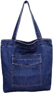 Womens Soft Jeans Cloth Bags Casual Handbag Tote Bag Simple Bags