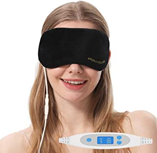 Aroma Season USB Steam Eye Mask to Relieve Eye Stress, Warm Therapeutic Treatment for Dry Eye, Blepharitis, Styes (Black)