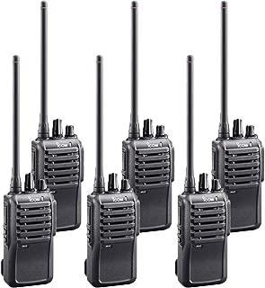 6 Pack of Icom IC-F4001 UHF PREPROGRAMMED Radios