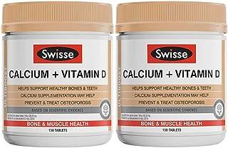 2瓶装|SWISSE 钙+维生素D片150片/瓶 孕妇中老年人补钙 全家补钙好吸收 澳洲品牌 原装进口