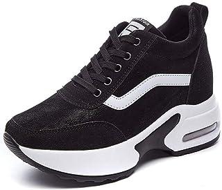 Aumento Interno Scarpe da Donna Moda Autunno e Primavera Sneakers comode in Cotone Scarpe Sportive con Tacco a Zeppa Cusci...