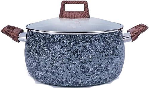 Huaishu Poêle à Soupe Maifan Stone Poêle à gaz Universelle pour cuisinière de Nouilles 22   24cm,22cm