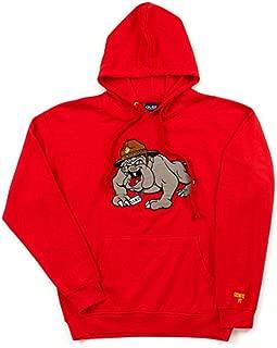 Old Varsity Brand Marine Corps USMC Bulldog Embroidered Pullover Hooded Fleece Sweatshirt