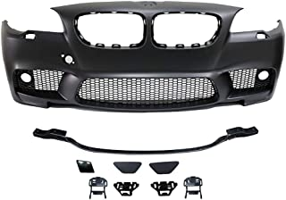 Front Bumper Cover Compatible With 2011-2016 5-Series F10 | 4Dr M5 Style Front Bumper Fog Conversion PP Polypropylene by IKON MOTORSPORTS | 2012 2013 2014 2015